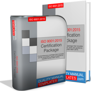ISO 9001:2015 Certification Package