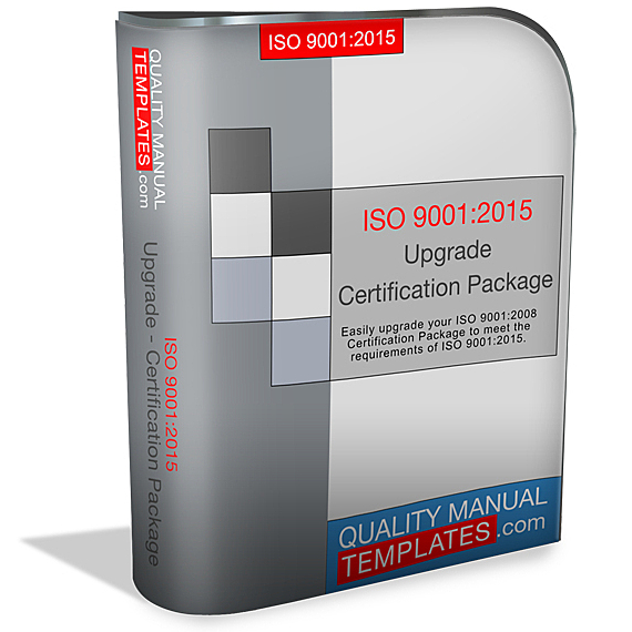 ISO 9001:2015 Upgrade - Certification Package