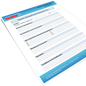 Supplier Disqualification Request Form