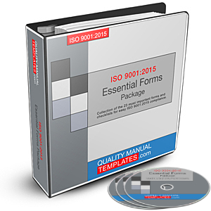 ISO 9001:2015 Essential Forms Package