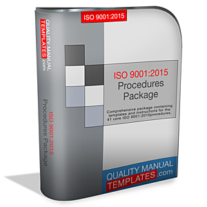 ISO 9001:2015 Procedures Package